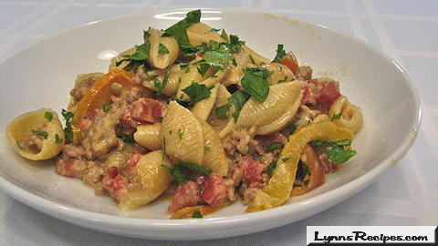 Cheesy Sausage Pasta -- Lynn's Recipes