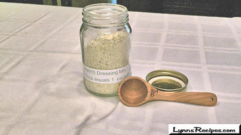 Homemade Ranch Dressing Mix