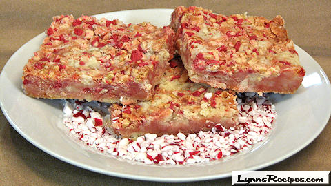 Peppermint Crumble Bars